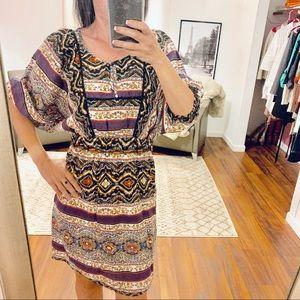 Jessica Simpson Ivory Boho Print Dress Size XS